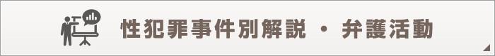 性犯罪事件別解説・弁護活動